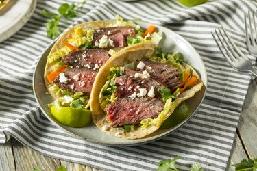 Homemade Korean Steak Tacos Healthy meat recipes