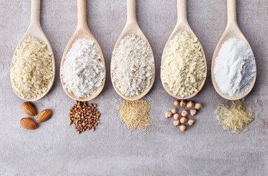 Various gluten free flours
