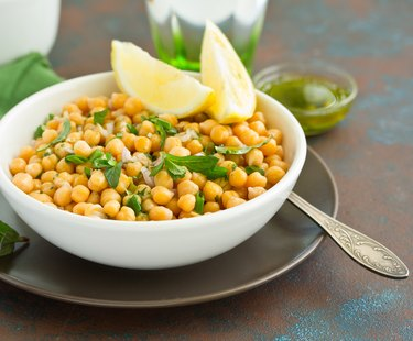 Chickpea and mint salad.