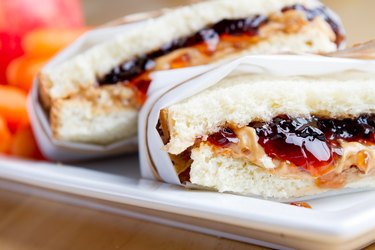 PB&J Sandwich with Healthy Sides