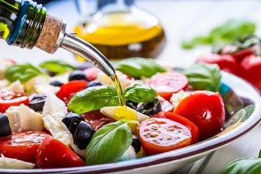 Caprese. Caprese salad. Italian salad. Mediterranean salad. Italian cuisine.