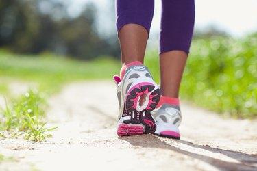 Athlete walking.