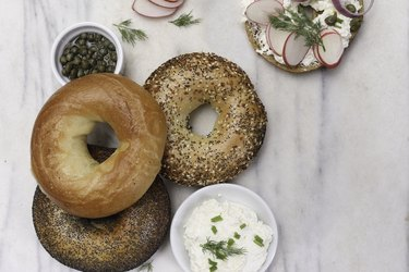 Bagels, Capers and Cream Cheese