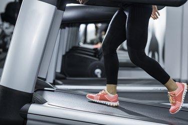 Woman Doing Incline Treadmill Walking