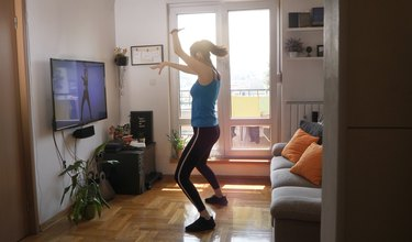 Woman doing dance workout.