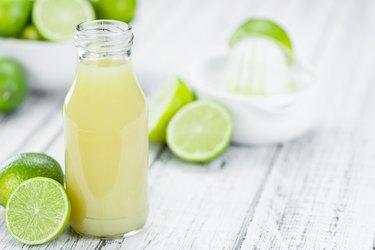 Fresh made Lime Juice