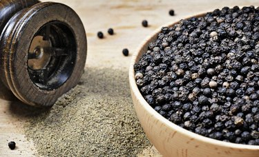 Close up shot of black pepper