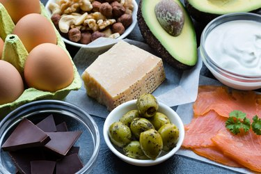 Food Background High in Healthy Fats