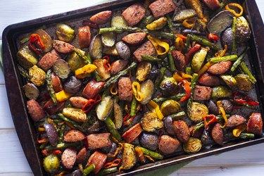 Sheet roasted vegetables