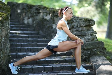Runner doing lunges for cross-training