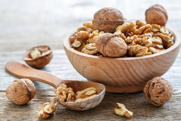 Walnuts nutrition benefits in a bowl