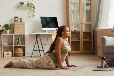 Woman stretching for 10 minutes.