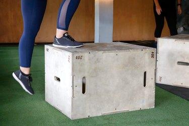 Plyometric box exercises