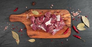 Raw Chopped Lamb Tenderloin Fillet, Diced Mutton Meat