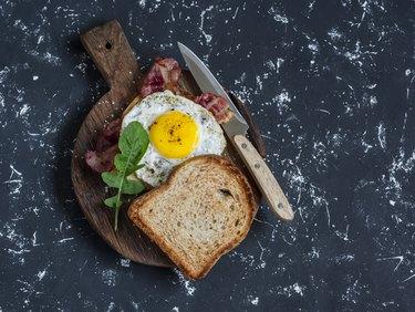 Toast with fried egg, toast