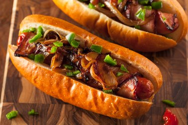 Homemade Bacon Wrapped Hot Dogs contain nitrates