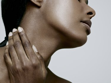Try neck tightening exercises to help tone muscles.