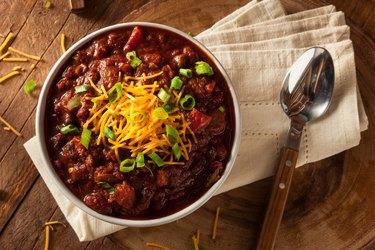 Homemade Organic Beef Chili