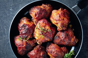 hot grilled chicken thighs
