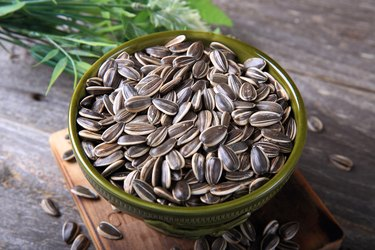 Bowl of vitamin E-rich sunflower seeds