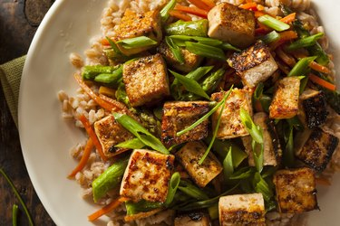 Homemade Tofu Stir Fry meat substitutes