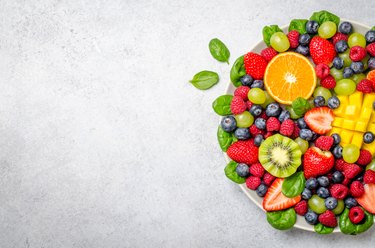 Fruit platter, top view