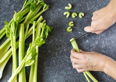 Fresh sliced celery