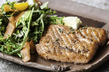 Grilled fillet of wild salmon