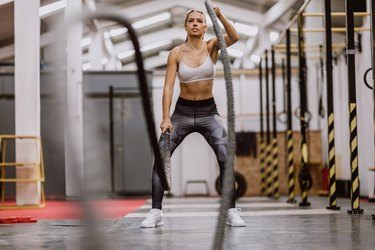 Body Building Battle Ropes