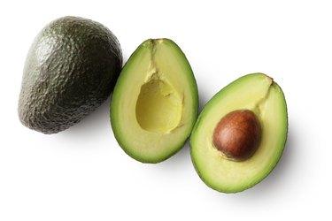 Fruit: Avocado Isolated on White Background