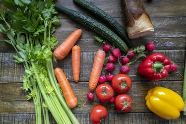 vibrant colors of fresh vegetables on table