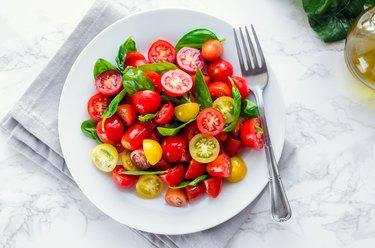 Tomatoes salad with basil