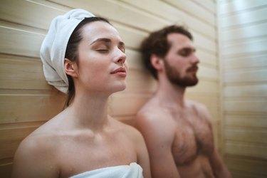 using the sauna
