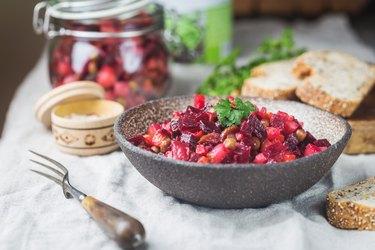 Russian beetroot salad