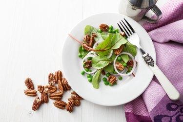 Salads: Chard, Onion, Pecan and Peas Still Life