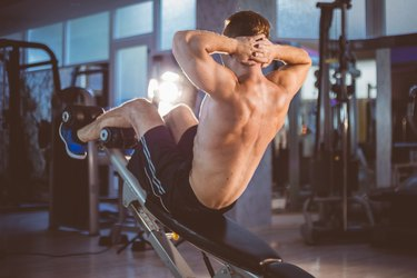 Incline sit-up training