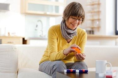 Senior Woman taking Metformin