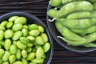 Soy beans in bowls