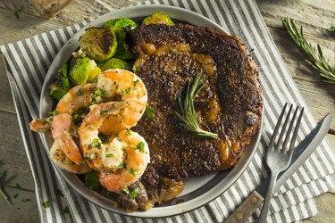 Gourmet Homemade Steak and Shrimp