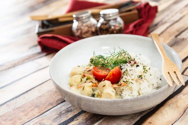 Risotto Scallops and dried tomatoes healthy crockpot recipes