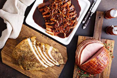 Holiday meats from above