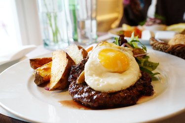 Steak and eggs both have vitamin B12 and iron