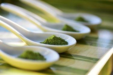 Matcha green tea.
