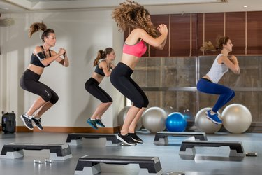 Training step aerobic