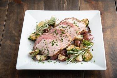 sliced roasted pork loin