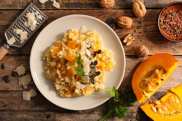 italian risotto with pumpin and parmesan