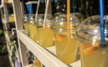 Fresh-squeezed lemonade being sold on the street