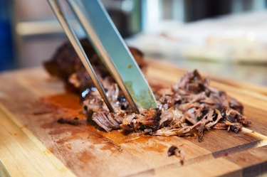 Pulled Barbecue Chicken healthy meat dishes