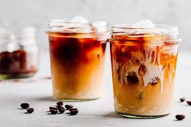Iced Coffee with Vanilla Cardamom Almond Milk