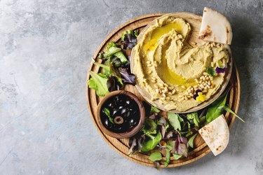 Hummus spread with nuts